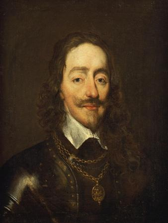 Portrait of King Charles I, Bust Length, Wearing Armour and the Collar of the Order of the Garter