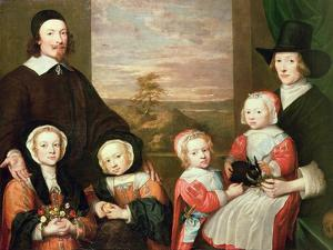 Unidentified Family Portrait, Traditionally Thought to Be That of Sir Thomas Browne, Mid 1640s by William Dobson