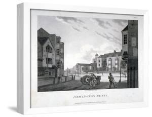 Newington Butts, Southwark, London, 1792 by William Ellis
