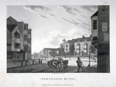 Newington Butts, Southwark, London, 1792
