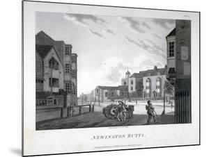 Newington Butts, Southwark, London, 1792 by William Ellis