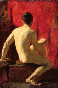 Seated Male Model by William Etty