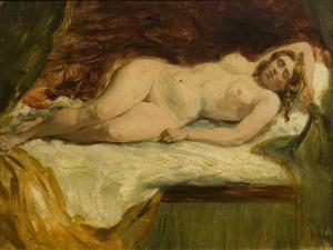 Study of a Nude Female Sleeping by William Etty