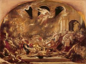 The Destroying Angel and Daemons of Evil Interrupting the Orgies of the Vicious and Intemperate by William Etty