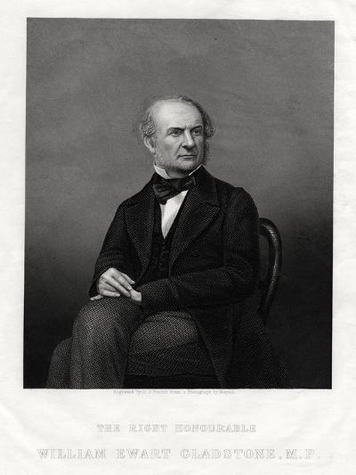 William Ewart Gladstone Mp, British Liberal Prime Minister, 1880-DJ Pound-Giclee Print