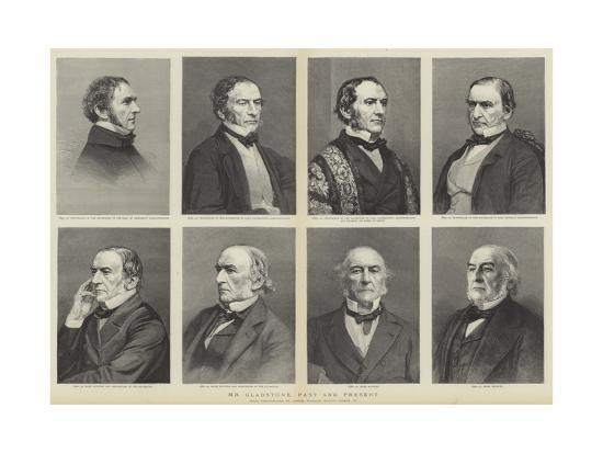 William Ewart Gladstone, Portraits, Past and Present--Giclee Print