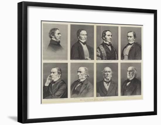 William Ewart Gladstone, Portraits, Past and Present--Framed Giclee Print