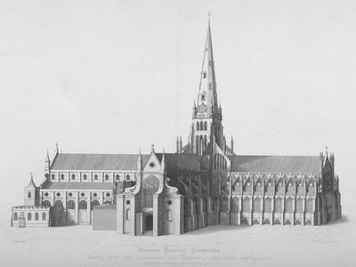 South Elevation of the Old St Paul's Cathedral, City of London, 17th Century
