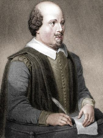 William Shakespeare, English poet and playwright, (1820)