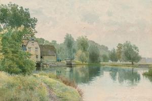 Houghton Mill on the River Ouse, 1914 by William Fraser Garden