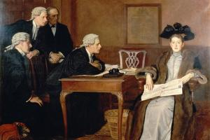 Defendant and Counsel, 1895 by William Frederick Yeames