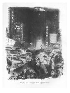 """""""Geez, here comes the Fire Department!"""" - New Yorker Cartoon by William Galbraith Crawford"""