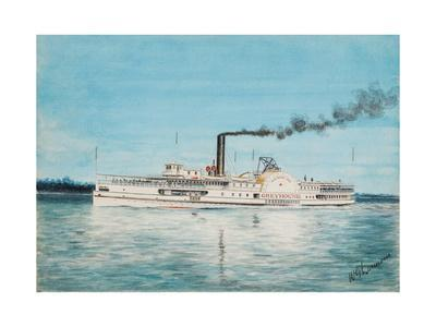 American Steamboat Greyhound of the Red Star Line, Built 1902
