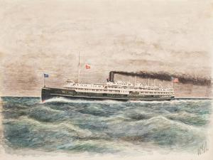 American Steamship Eastern States, Built 1902 by William Gardham Larmour