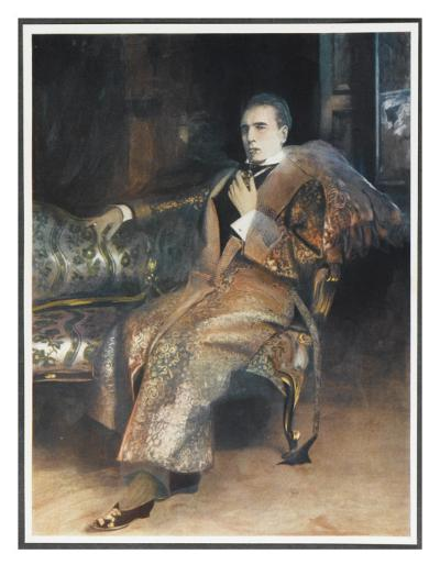 William Gillette American Actor and Dramatist, in the Role of Sherlock Holmes--Giclee Print