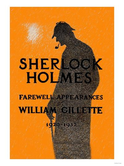 William Gillette as Sherlock Holmes: Farewell Appearance--Art Print
