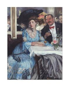 At Mouquin's, 1905 by William Glackens