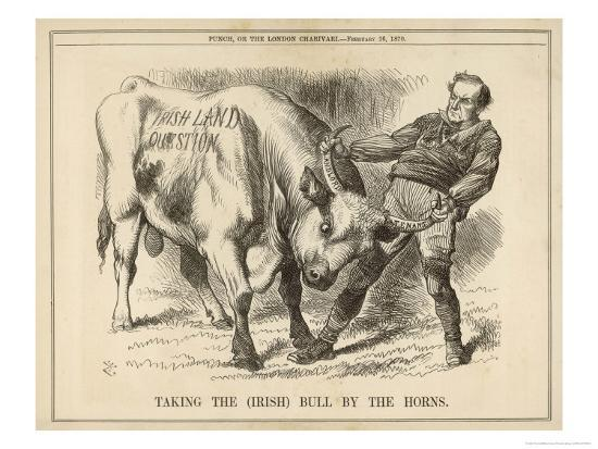 William Gladstone Taking the (Irish) Bull by the Horns-John Tenniel-Giclee Print