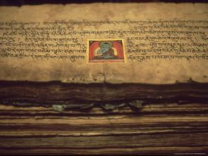 Detail of Buddhist Documents in Monastery at Jarkhot, Nepal Himalaya by William Gray