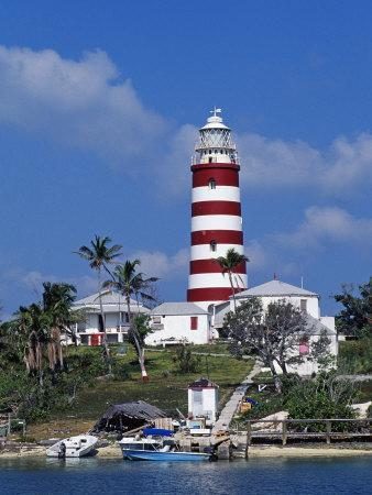 Lighthouse at Hope Town on the Island of Abaco, the Bahamas