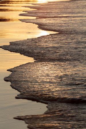 Waves Breaking at Sunset on Main Beach, Noosa, Sunshine Coast, Queensland, Australia