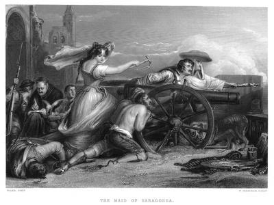 Siege of Zaragosa, Spain, Peninsular War, 1808 (C1822-C187)