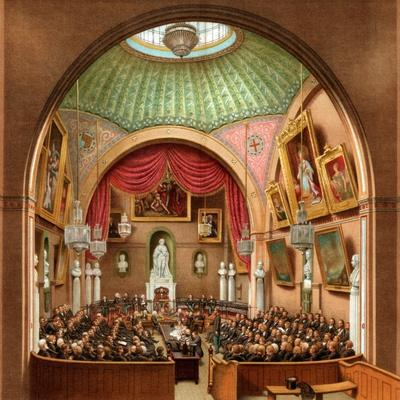 Council Chamber, Guildhall, City of London, 1886