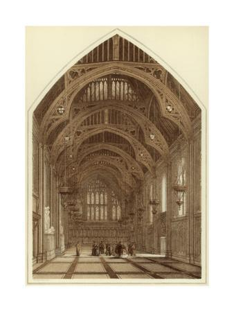 Guildhall Interior, City of London, 1886