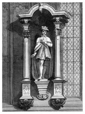 The Statue of Edward VI, from the Front of the Guildhall Chapel, City of London, 1886