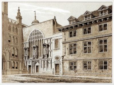 West Front of Guildhall Chapel, City of London, 1886