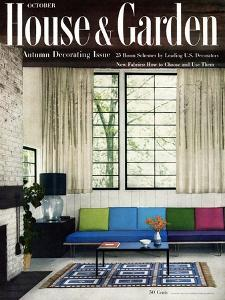 House & Garden Cover - October 1955 by William Grigsby