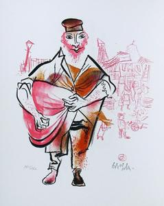 Untitled 10 from the Shtetl Portfolio by William Gropper