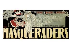 The Masqueraders, c.1894 by William H. Bradley