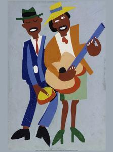 Blind Singer by William H^ Johnson
