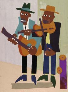 Street Musicians by William H Johnson