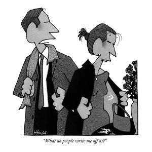 """""""What do people write me off as?"""" - New Yorker Cartoon by William Haefeli"""
