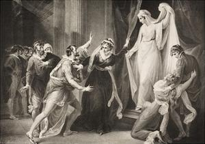 A Chapel in Paulina's House, Act V, Scene III, from 'The Winter's Tale', from the Boydell… by William Hamilton