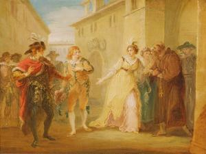The Revelation of Olivia's Betrothal, from Act V, Scene I of 'Twelfth Night', C.1790 by William Hamilton