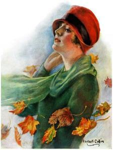 """""""Fall Leaves,""""November 5, 1927 by William Haskell Coffin"""