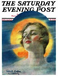 """""""Misty Harvest Moon,"""" Saturday Evening Post Cover, November 10, 1928 by William Haskell Coffin"""
