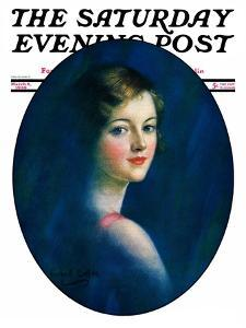 """""""Portrait of Young Woman,"""" Saturday Evening Post Cover, March 8, 1930 by William Haskell Coffin"""