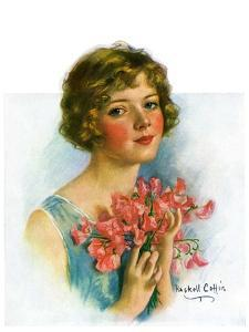 """""""Woman and Flowers,""""June 12, 1926 by William Haskell Coffin"""