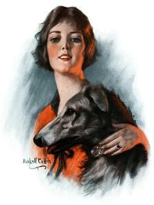 """""""Woman and Wolfhound,""""October 17, 1925 by William Haskell Coffin"""