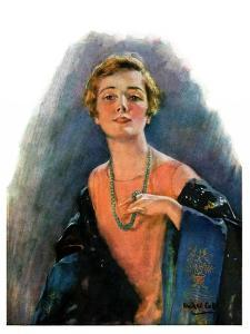 """""""Woman Wearing Beaded Necklace,""""February 26, 1927 by William Haskell Coffin"""