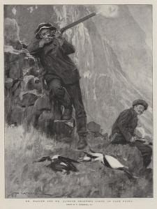 Dr Nansen and Mr Jackson Shooting Loons on Cape Flora by William Hatherell