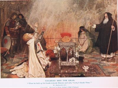 Galahad Sees the Grail, Illustration from 'King Arthur'