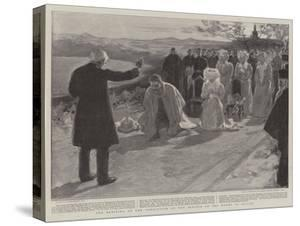 The Blessing at the Conclusion of the Service on the Mount of Olives by William Hatherell