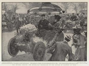 The Riviera Season, the Motor-Car Procession in the Battle of Flowers at Nice by William Hatherell