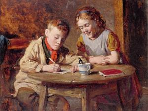 Writing a Letter by William Hemsley