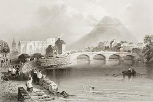 Ballina, County Mayo, from 'scenery and Antiquities of Ireland' by George Virtue, 1860s by William Henry Bartlett